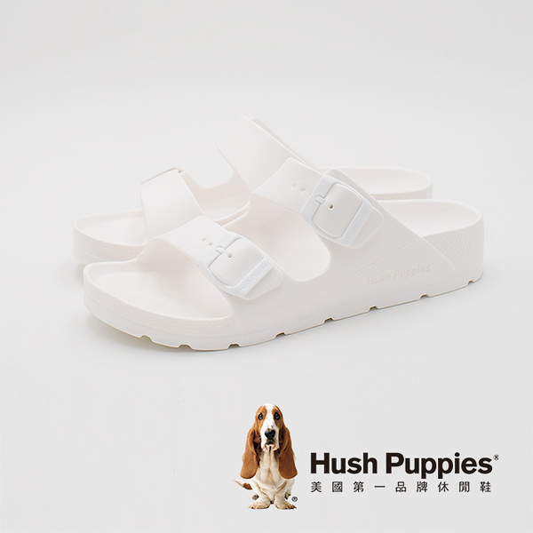 Hush Puppies 輕量休閒增高拖鞋 女鞋-白(另有深咖、粉)