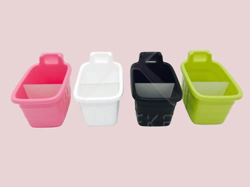 【好市吉居家生活】好室喵 CAAS002 迷你世界收納盒-泡澡桶 小物收納 收納籃 化妝品收納 筆筒