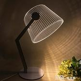 3D木質裝飾檯燈USB床頭簡約氛圍燈新奇特臥室LED小夜燈 Korea時尚記