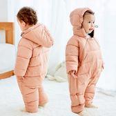 嬰兒上衣新生兒衣服秋冬季外出抱衣男寶寶冬裝女網紅嬰兒服連體衣加厚爬服全館免運 二度