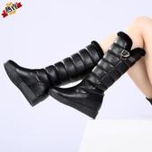 雪地靴 女高筒不過膝防水防滑加厚保暖冬季女靴厚底大碼女鞋41-43【降價兩天】