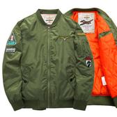 ※現貨【大碼】加厚夾棉軍裝MA1徽章運動飛行員外套 棒球夾克 4色 M-6XL碼【CW434205】