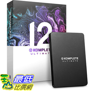 [8美國直購] 暢銷軟體 Native Instruments Komplete 12 Ultimate Software Suite B07GY8BSQJ