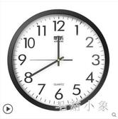 鐘表掛鐘客廳圓形創意時鐘掛表簡約現代家用家庭靜音電子石英鐘CC3535『毛菇小象』