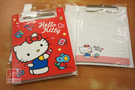 Hello Kitty PP材質 板夾 附信紙 紅
