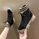 短靴 秋冬季馬丁靴女英倫風2021年新款百搭秋款潮鞋加絨女鞋短靴女靴子 艾維朵