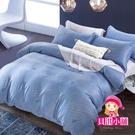 【貝淇小舖】 100%萊賽爾天絲 特大雙人6x7尺 鋪棉兩用被床包組 附正天絲吊卡 藍調