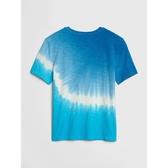Gap男童 舒適紮染短袖圓領T恤 510257-藍色