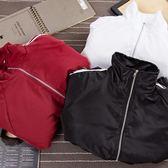 學生寬鬆開衫情侶外套潮韓版拉鏈條紋薄款 完美情人精品館