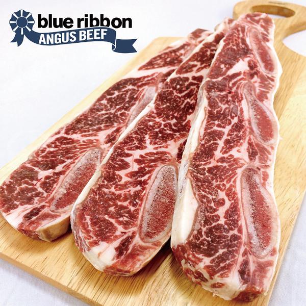 【超值免運】美國CAB藍帶凝脂帶骨牛小排~大份量3片組(200公克/1片)