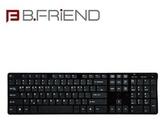 【超人生活百貨】B.FRIEND 三區塊有線單鍵盤 剪刀腳 黑色 KB1430BK