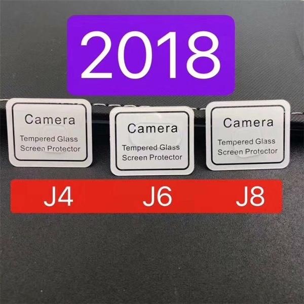 King*Shop~三星A7 A9 2018鏡頭膜高清鋼化膜J8 J4+ J6plus 手機攝像頭防刮膜