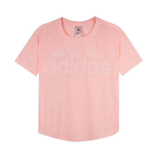 Adidas 女 MAGIC LOGO TEE 愛迪達 圓領T(短)- DN9066