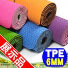 (展示品)TPE環保6MM雙色瑜珈墊(贈送收納背袋)運動墊止滑墊防滑墊地墊專賣店