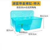 烏龜缸帶曬台養龜的專用缸水陸缸養烏龜別墅龜箱養龜盆大型小型 城市科技DF