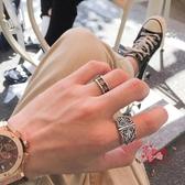 戒指男 搖滾風男士復古戒指 誇張羅心食指戒子 古羅馬十字架雕花介子扳指 多款可選