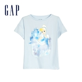 Gap 女童 Gap x Disney迪士尼系列公主圓領短袖T恤 591031-淡藍色