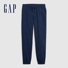 Gap 男裝 簡約風格純色鬆緊休閒褲 589666-海軍藍