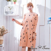 【Tiara Tiara】激安 純棉水玉深淺點點寬版洋裝(粉/藍/黃)