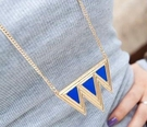 歐美風倒三角型造型長鍊(共3色)   情人節禮物【Vogues唯格思】A151