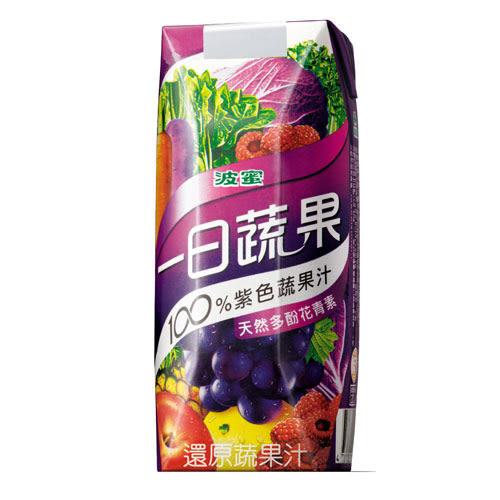 波蜜 一日蔬果100%紫色蔬果汁PR330*6【愛買】