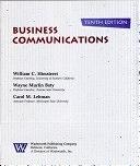二手書博民逛書店 《Business communications》 R2Y ISBN:0534928978│Wadsworth Pub Co