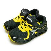 LIKA夢 DIADORA 迪亞多那 22cm-24.5cm 輕量3E寬楦慢跑鞋 競速飆風系列 黑黃 7870 大童