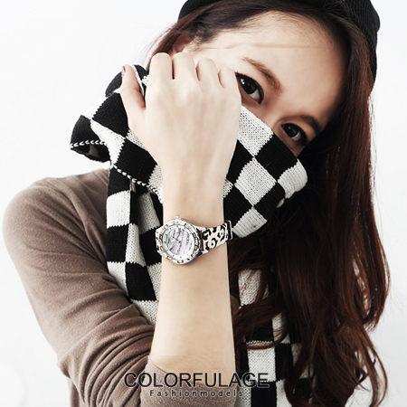 韓國品牌JuLius錶款 獨家豹紋美鑽錶 復古女孩必搭約會 柒彩年代【NE473】單支