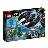 76120【LEGO 樂高積木】超級英雄 Super Heroes 蝙蝠戰機&謎語人搶劫