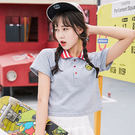 刺繡笑臉學院風短版T-Shirt / 衣櫃控-WardrobE / AB-T016