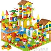 兒童積木拼裝玩具3-6周歲1-2益智拼插寶寶大顆粒女男孩子相容 七色堇