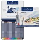 Faber-Castell輝柏 ART-GRIP創意工坊水彩色鉛筆-藍色精緻鐵盒裝24色114624