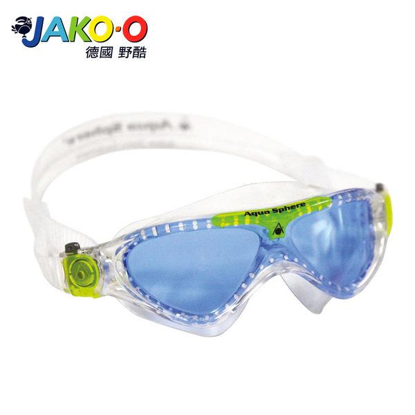 JAKO-O德國野酷-Aqua Lung 防霧游泳面鏡-藍綠