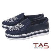★2018春夏新品★TAS 獅子造型水鑽質感休閒鞋-海軍藍