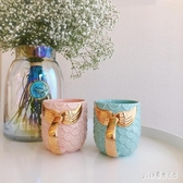 出口珍珠釉金色美人魚尾特大容量水杯飲料杯果汁杯花瓶化妝桶收納 qf9919『Pink領袖衣社』