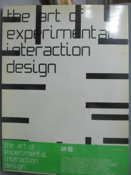 【書寶二手書T8/設計_ZGS】The Art Of Experimental Interaction Design: