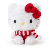 Sanrio  HELLO KITTY動感迴聲絨毛玩偶(條紋圍巾版)_785873