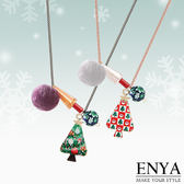 聖誕小樹項鍊 長鍊 毛衣鍊 Enya恩雅(正韓飾品)【NEAW7】