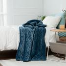 【出清$39元起】星宙藍雙層舖棉法蘭絨毯130*180-生活工場