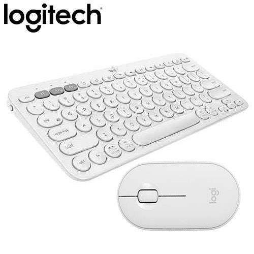 【珍珠白組合】羅技 K380 多工藍牙鍵盤 +M350 鵝卵石無線滑鼠