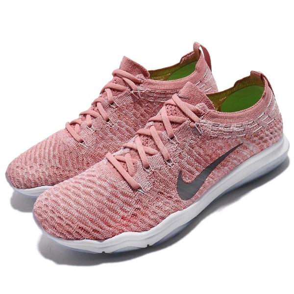 Nike 訓練鞋 Wmns Air Zoom Fearless FK Lux 粉紅 灰 飛線編織 女鞋 運動鞋 【PUMP306】 922872-601