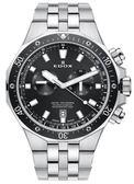 EDOX 依度 Delfin 專業200米防水 E10109.3M.NIN計時碼錶/黑錶43mm