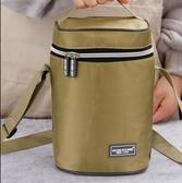 保溫包 飯盒袋女保溫袋帆布防水便當包鋁箔圓形加厚飯盒包帶飯的手提袋包 新年特惠