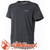 【Wildland 荒野 男款 銀纖維排汗抗菌上衣《鐵灰》】0A51632/春夏款/排汗衣/短袖★滿額送