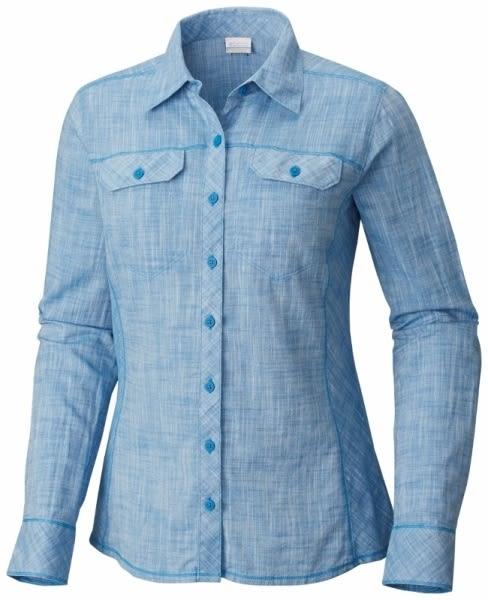 【Columbia】女款長袖襯衫-藍 AR7990(BL)