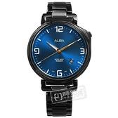 ALBA / VJ42-X270SD.AS9H47X1 / 限定款 日期視窗 防水100米 日本機芯 不鏽鋼手錶 藍x鍍黑 43mm