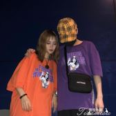 春夏韓國原宿BF風街頭百搭嘻哈字母印花寬鬆男女情侶短袖T恤潮  提拉米蘇