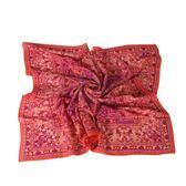 Christian Dior 華麗幾何雕花(大)絲巾(橘紅色) 179019-2