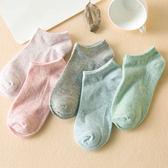 襪子女夏款中筒韓版女士短襪女薄款淺口船襪純色學生襪【快速出貨八折優惠】