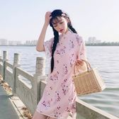 中國風改良旗袍唐裝連身裙少女碎花裙【奇趣小屋】